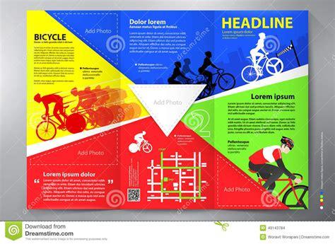 leaflet design how to brochure leaflet design tri fold vector template stock