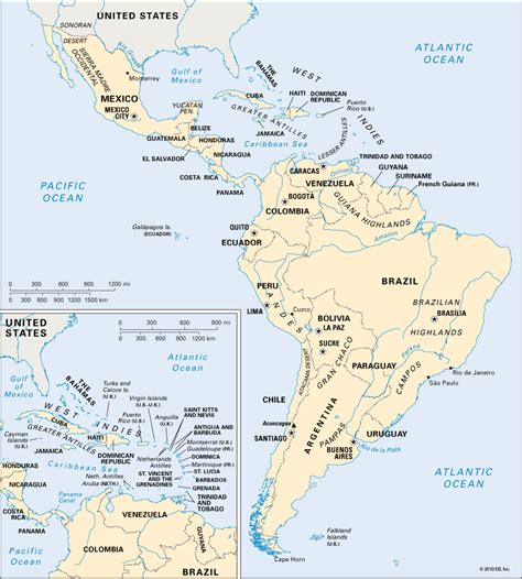 and south america map in america physical map roundtripticket me
