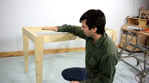 how to build a simple desk how to make a simple table youtube