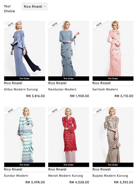 Baju Karate Paling Mahal 5 jenama baju raya paling mahal harga lebih rm4 000