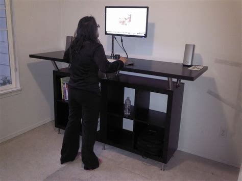 Stand Up Desk Hack From Ikea Parts Office Spaces Stand Up Office Desk Ikea