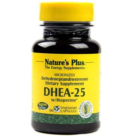 Vitamin Nutrisi Dhea 25mg 100 Capsul nature s plus dhea 25 25 mg 60 capsules evitamins