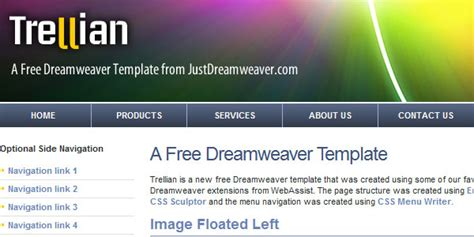 шаблон для dreamweaver npoenergomash