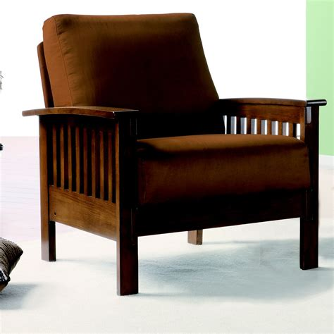 Mission Arm Chair Design Ideas Oxford Creek Marlin Mission Inspired Arm Chair In Rust Microfiber Home Furniture Living