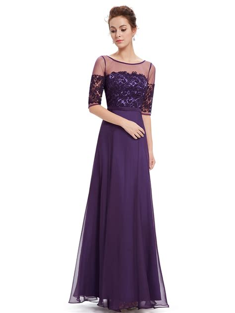 Dress Maxi Purple Elegan purple half sleeves maxi dress dress pretty wholesale