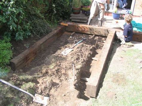 Railway Sleeper Pins by Raised Pond Railway Sleepers And How To Build On