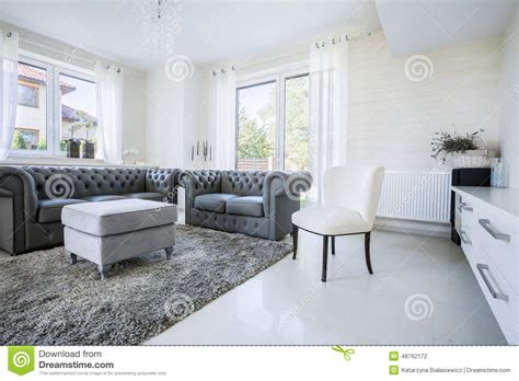 classic furniture in modern house stock photo image