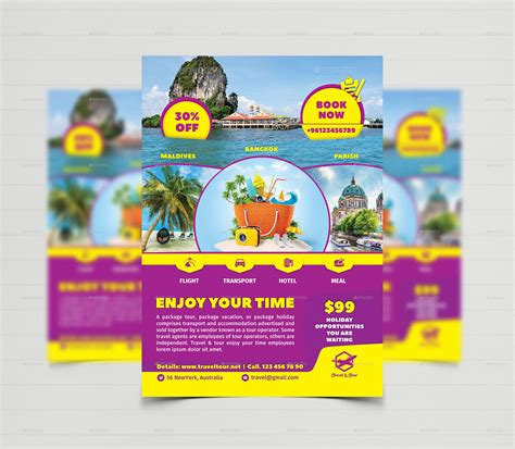 Tour Design Template by Travel Tour Flyer Templates By Creative Touch Graphicriver