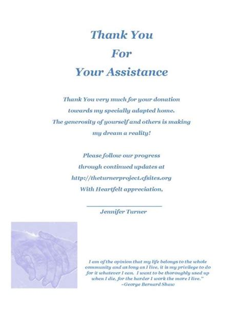 Thank You Letter Project Team The Asce Turner Project S Thank You