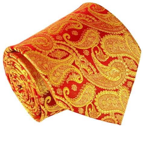 gold pattern ties red gold paisley paul malone silk tie set 695ch