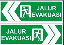 Petunjuk Arah Jalur Evakuasi Gantung Bahan Akrylik 1 pembuatan rambu jalur evakuasi adyarto advertising pro