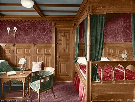 first class bedrooms colourised images show the luxury aboard the titanic