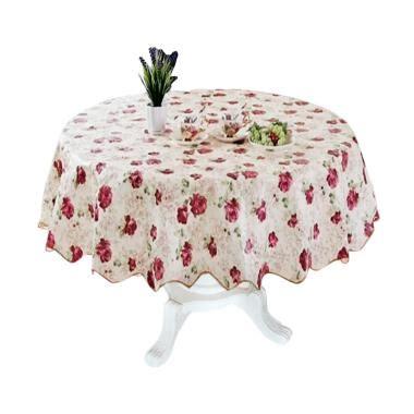 Taplak Meja Makan Plastik Bulat Anti Air Bunga Sepatu Pink jual homestuff motif bunga 5 peva anti air taplak meja bundar harga kualitas terjamin