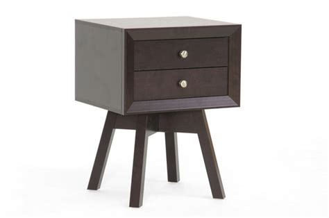 modern accent table baxton studio warwick brown modern accent table and