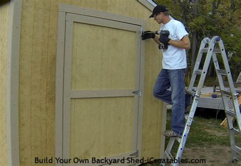 How To Hang Shed Doors by How To Build A Shed Door Icreatables