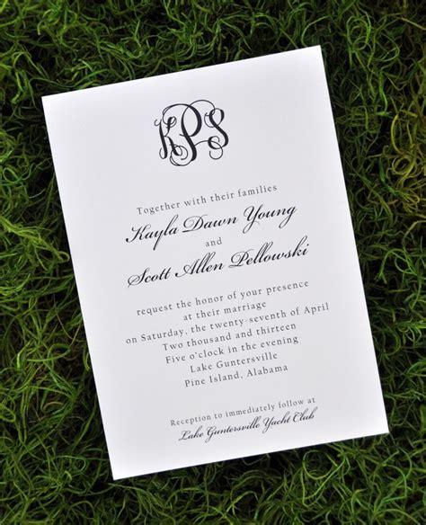 Wedding Invitations (Traditional)   Wiregrass Weddings