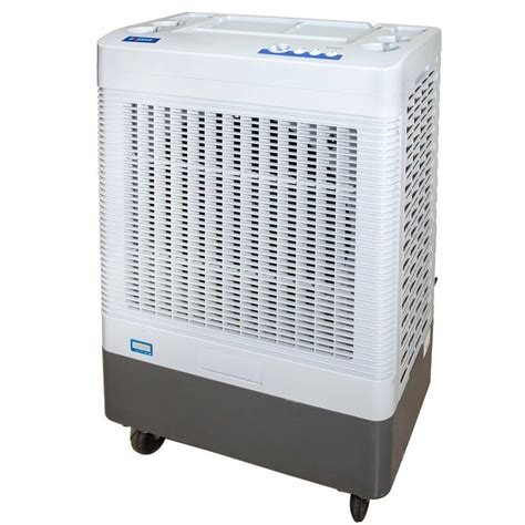 hessaire 5 300 cfm 2 speed portable evaporative cooler for