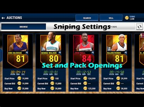live mobile nba live mobile sniping settings set and pack openings