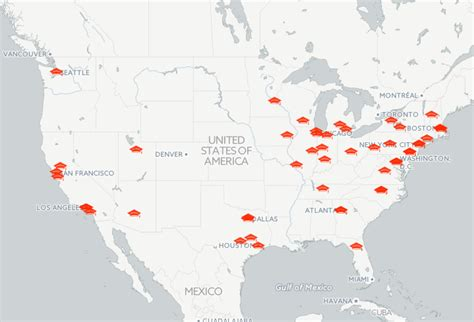 Mba Bizmap by Map See The Top 50 Business Schools In The U S Top