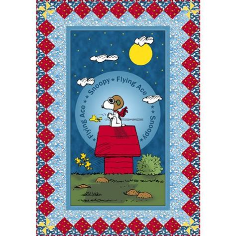 Panel Quilts Free Patterns by Snoopy The Flying Ace Panel Quilt Pattern Free Patterns