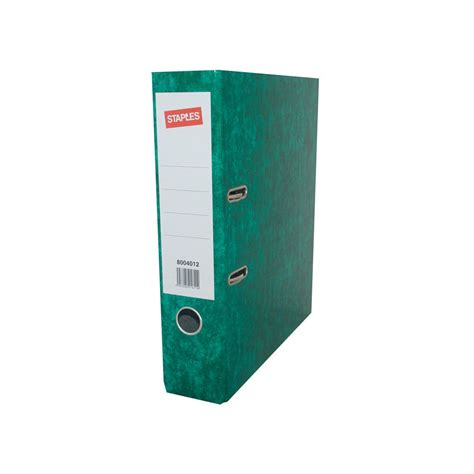 staples laminated lever arch file a4 green staples 174