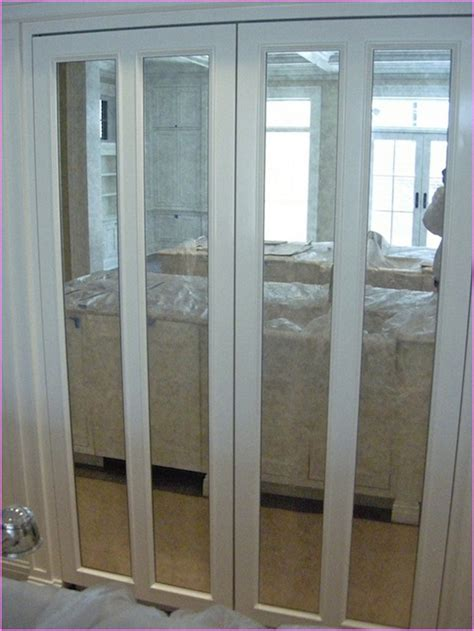 Bifold Closet Doors With Mirrors Bifold Mirrored Closet Doors Home Design Ideas Mirrored Bifold Closet Doors In Closet Style