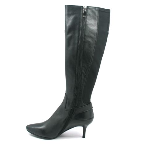 solemani s rochelle black leather narrow calf