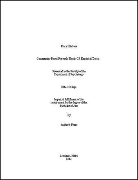 exle dissertation titles thesis cover page format columbus state