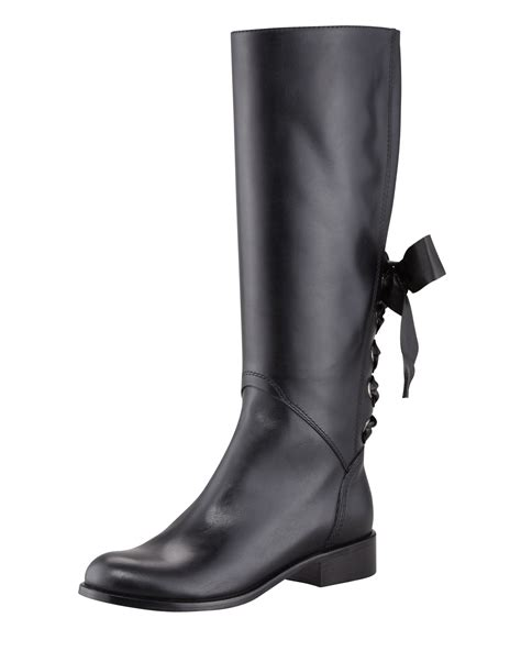 flat black leather boots for shoes mod