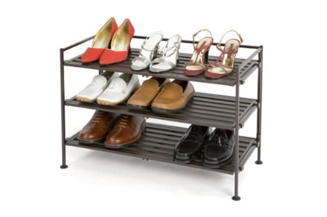 Seville Classics Resin Wood Composite Utility Shoe Rack by Seville Classics Resin Wood Composite Utility Shoe Rack