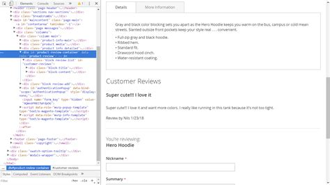 product layout description layout magento 2 2 move review tab below description