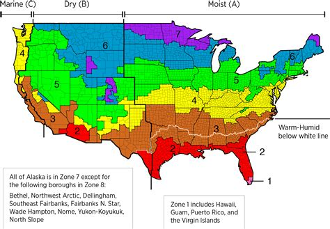 united states climate map climate zones of the united states iecc 2058x1432