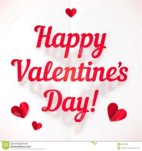 valentines sign happy s day sign in folded paper style stock