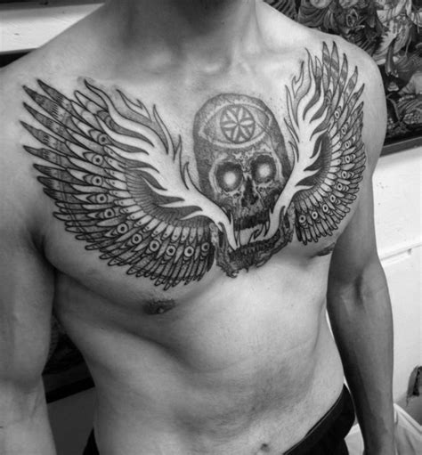 wing chest tattoos for men 40 wing chest designs for freedom ink ideas