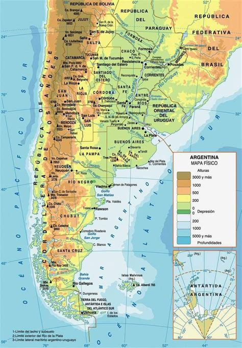 map of argentina with cities detailed physical map of argentina with cities argentina