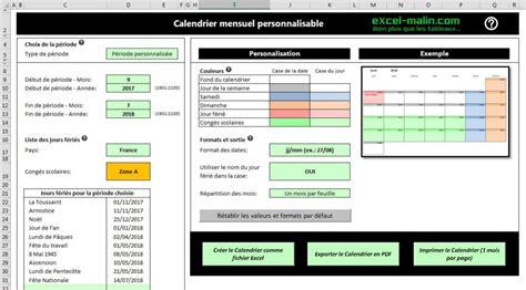 Calendrier Scolaire 2017 Et 2018 Calendrier Scolaire 2017 2018 224 Imprimer En Excel Et En