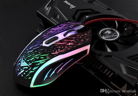 Gaming Mouse Rainbow Led Rafjoo 2400 Dpi T0210 2017 rajfoo rainbow 2400dpi optical adjustable 6d button wired gaming mice mouse for laptop