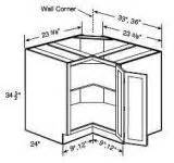 24 inch corner base cabinet