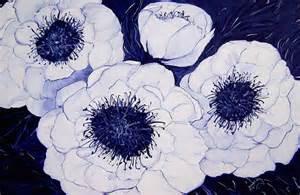 big blue and white dahlia flowers by carol nelissen