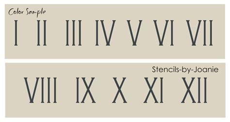 roman numeral stencil 1 75 quot tal skinny number clock