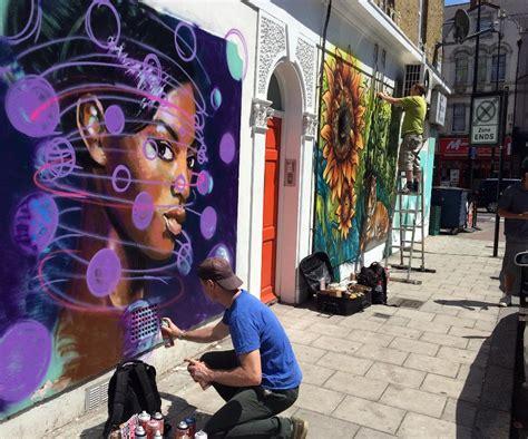 urban art brixton  graffiti mural artist