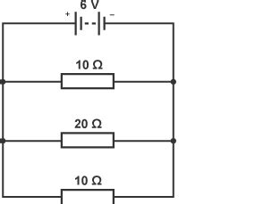 four 20 ohm resistors are connected in parallel what is the total resistance of the circuit bitesize national 5 physics ohm s revision 3