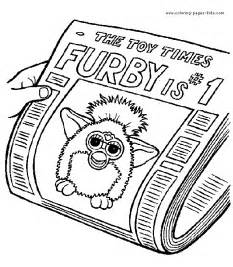 furbies color coloring pages kids cartoon characters coloring pages printable