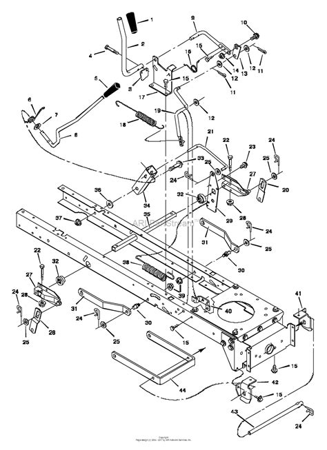 murray xb lawn tractor  parts diagram  mower housing suspension