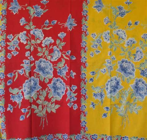 Mawar Tunic batik encim mawar merah kuning em49 batik encim pekalongan fabric