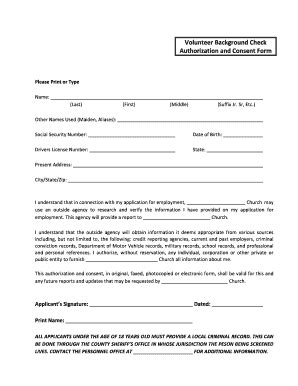 Form For Background Check Free Printable Background Check Forms Fill Printable Fillable Blank