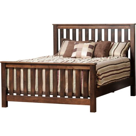 mission bed mission panel bed amish crafted furniture
