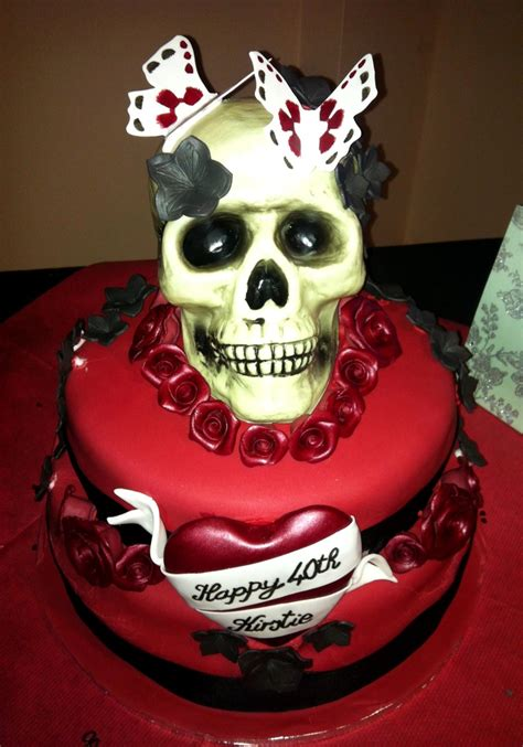 amazing skull birthday cake delightfully bizarre