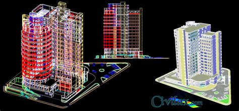 Single Story House Plan by Autocad 3d Drawing Of Hotel Civil Engineering Downloads