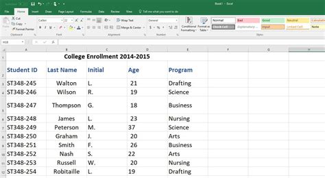 excel database profile cards design template how to create an excel database